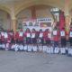 Profesores de Pinotepa Nacional realizaron un mitin para recordar a los 43 de Ayotzinapa