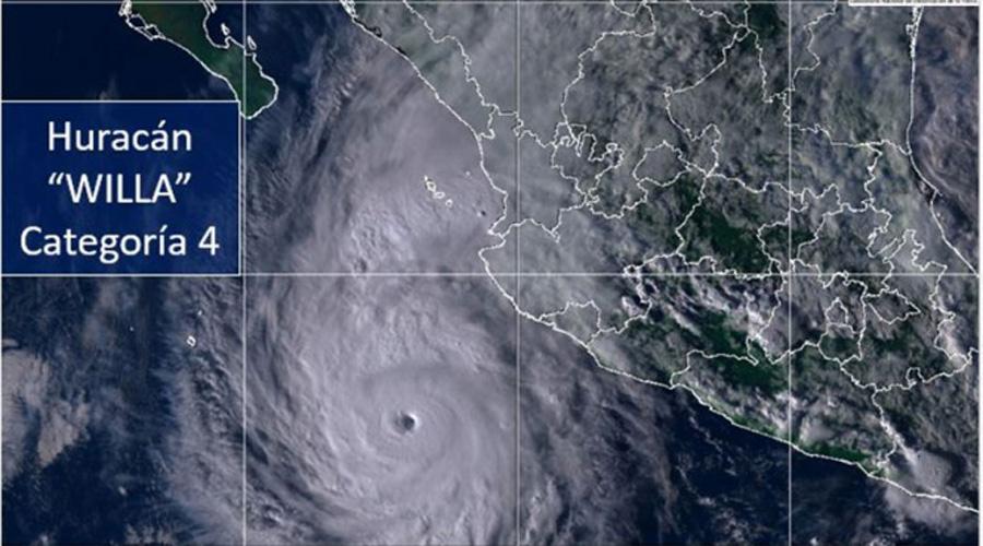 Huracán 'Willa' alcanza categoría cuatro, avanza a costas mexicanas | El Imparcial de Oaxaca