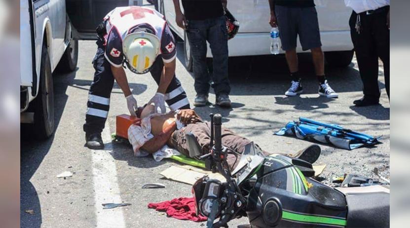 Se estampa motociclista en Puerto Escondido, Oaxaca   El Imparcial de Oaxaca