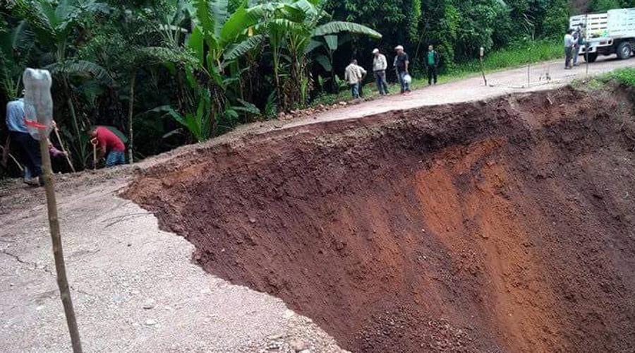 Lluvias dañan carretera en la región de la Cuenca | El Imparcial de Oaxaca