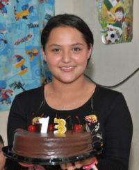 Evelyn festeja sus 13 años