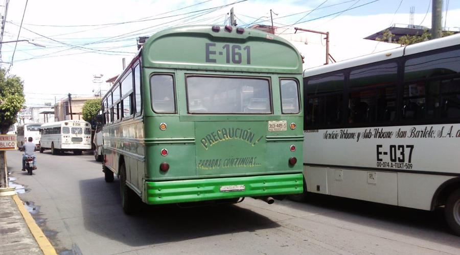 Operativos de supervisión al transporte público  de Tuxtepec