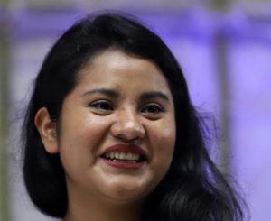 Un México más justo, pide Nadia García a Obrador