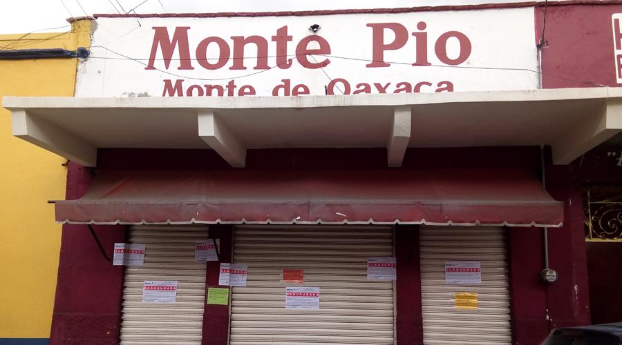 Clausura Sefin dos casas de empeño en Oaxaca