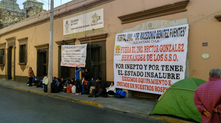 Trabajadores del SSO radicalizan protestas | El Imparcial de Oaxaca