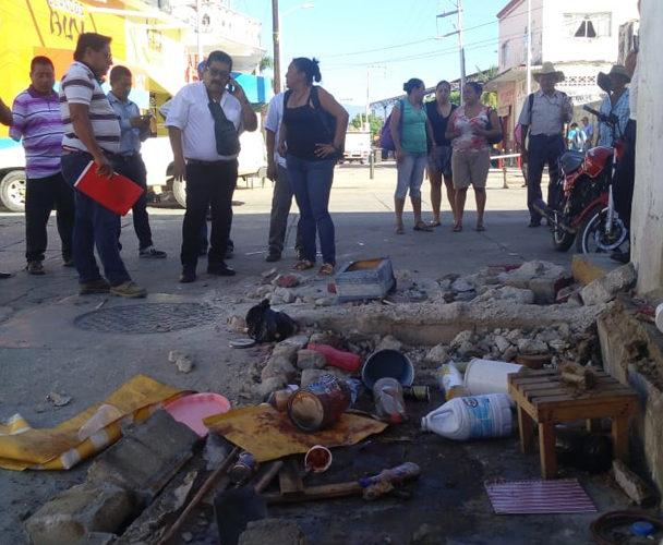 Desalojan a comerciante de la Costa de Oaxaca
