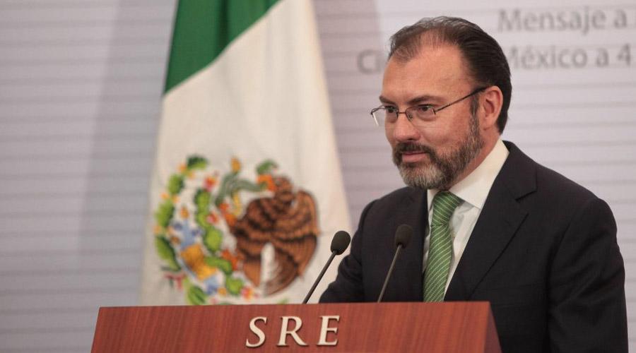 Tras elección en EU, se complica la aprobación del muro: Videgaray   El Imparcial de Oaxaca