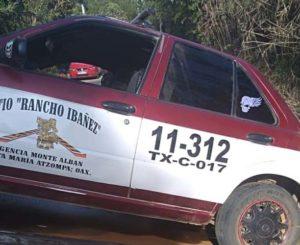 Continúan investigaciones de taxista asesinado en Rancho Los Ibáñez, Oaxaca