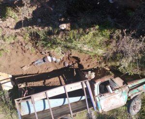 ¡Volcadura mortal en Camino a Díaz Ordaz!