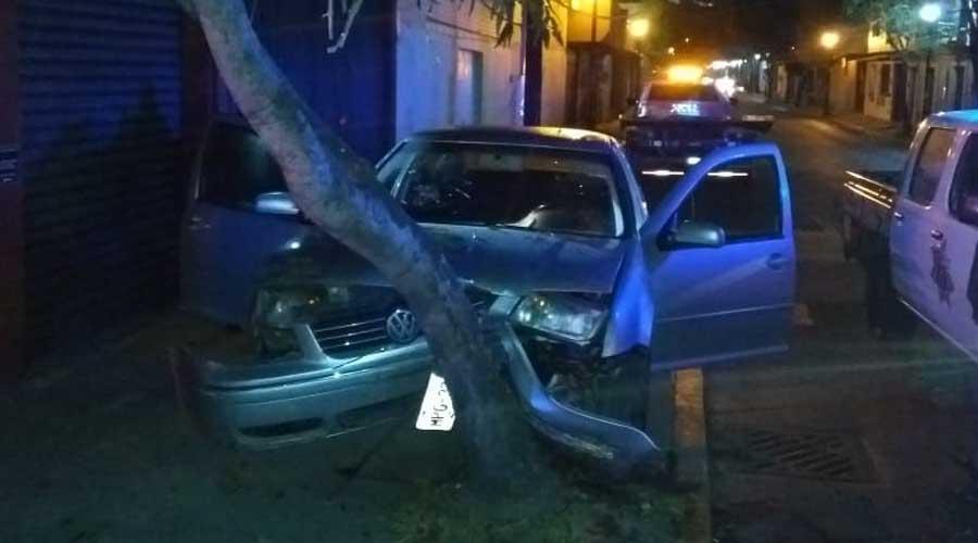 Ebrio choca con un árbol en el Barrio de la Noria | El Imparcial de Oaxaca