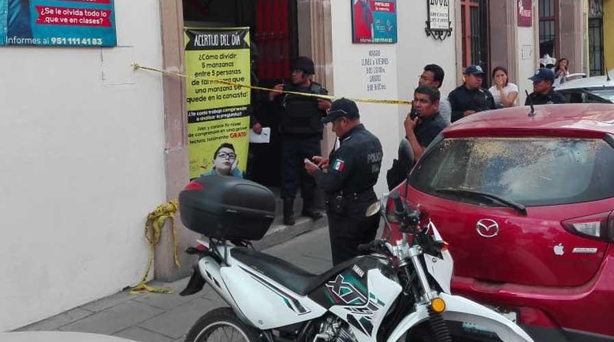 Asaltan a hombre en Centro de Oaxaca y le disparan en la mano | El Imparcial de Oaxaca