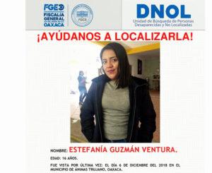 Buscan a adolescente desaparecida en Ánimas Trujano
