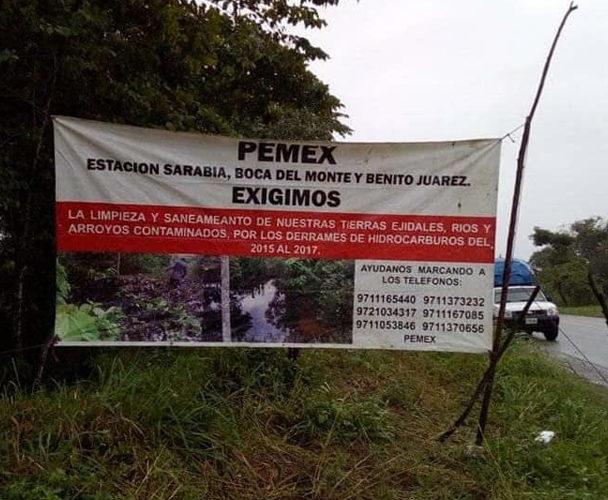 Exigen a Pemex pago por derrames