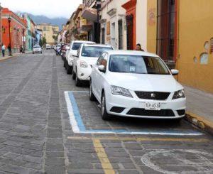 Estacionarse en el centro de Oaxaca, una pesadilla
