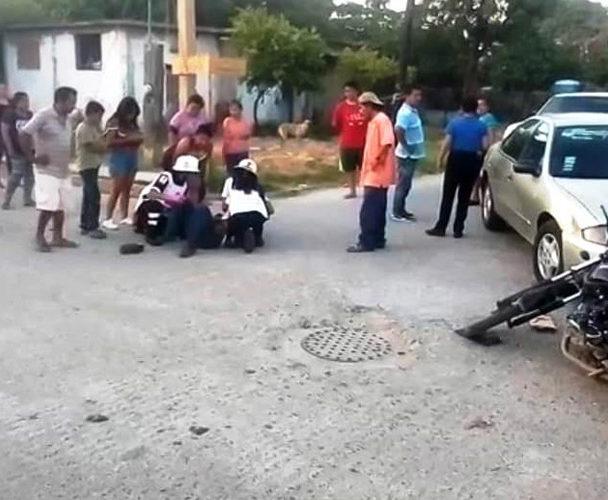 Se lleva de corbata a motociclista de Salina Cruz