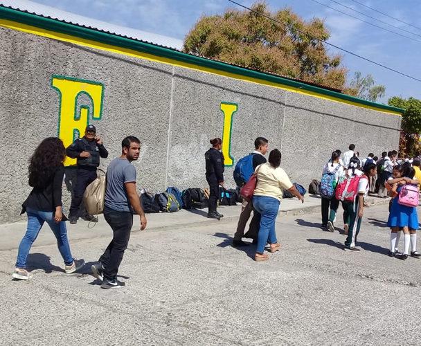 Refuerzan seguridad en escuelas de Salina Cruz