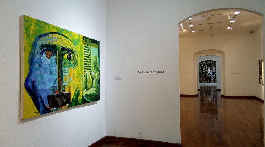 Vladimir Cora en el  Museo de los Pintores