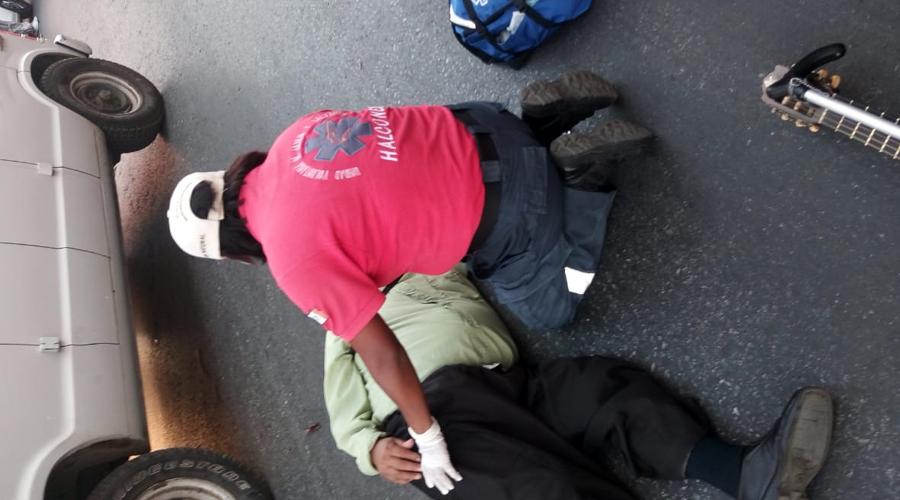 Atropellan a persona con discapacidad en el Centro de Oaxaca