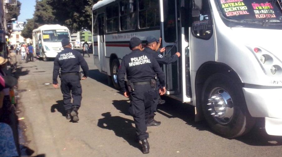 Mantiene Policía Estatal Operativo Urbano en Oaxaca