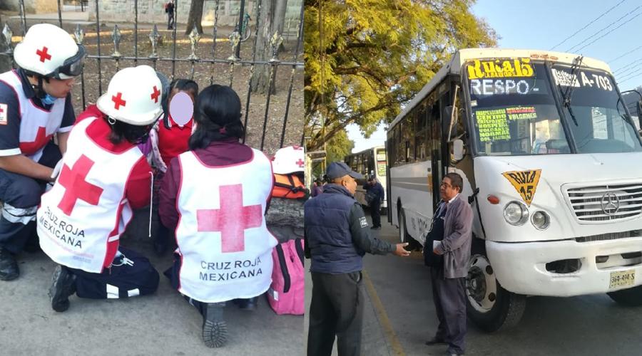 Se lesiona niña con puerta de autobús en Calzada Madero