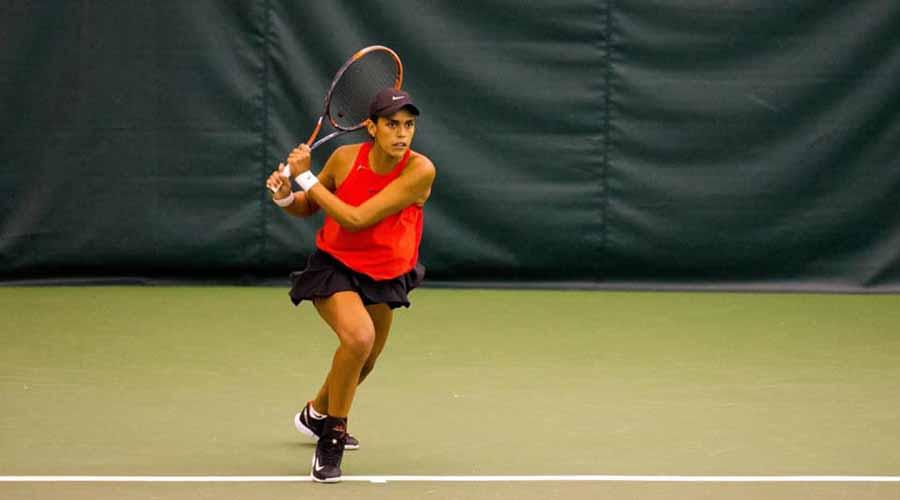Se alista oaxaqueña para competir en el Abierto Mexicano de Tenis