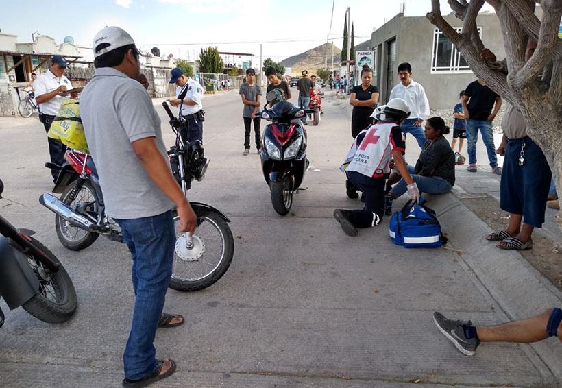 Chocan dos motociclistas en Ciudad Yagul | El Imparcial de Oaxaca