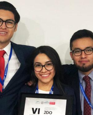 Estudiantes en la final del Concurso Nacional de Litigación Oral