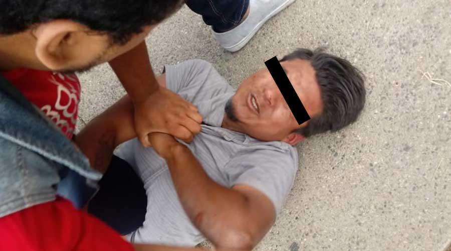 Atrapan a presunto ladrón de motos en la Colonia Reforma