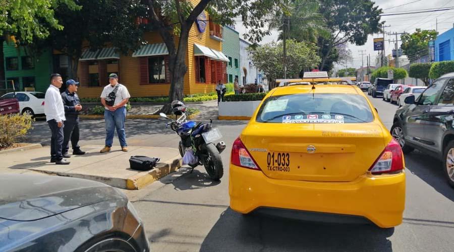 Por no respetar el 1×1 chocan conductores en la Colonia Reforma