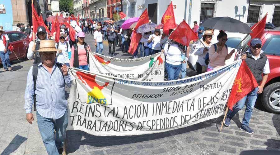 Continúan las protestas  en el Centro Histórico de Oaxaca