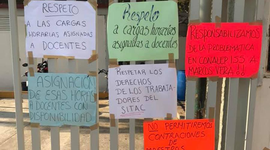 Crece la tensión  en el Conalep  de Salina Cruz, Oaxaca