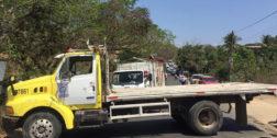 Paralizan transporte en Pinotepa Nacional