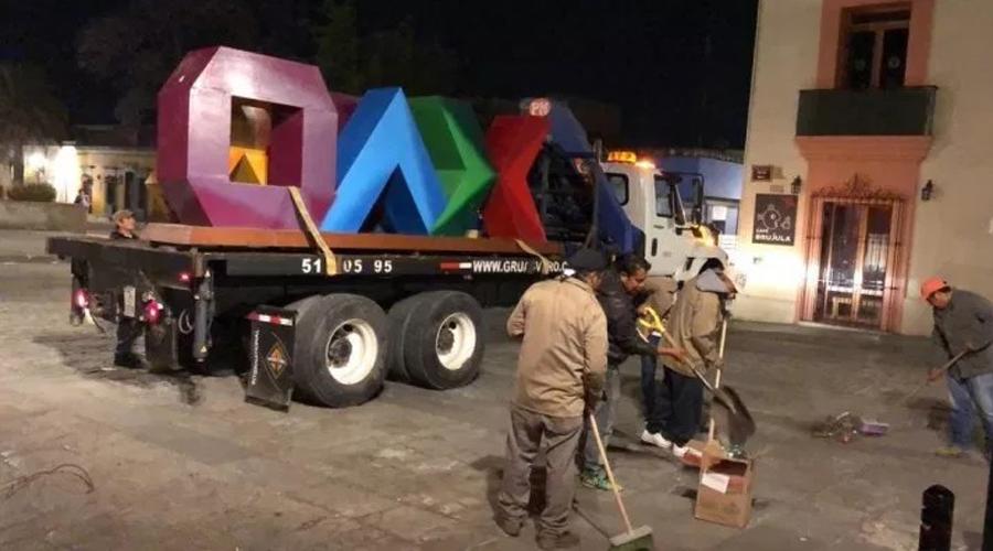 Retiran letras por no  responder a la identidad gráfica de Oaxaca   El Imparcial de Oaxaca
