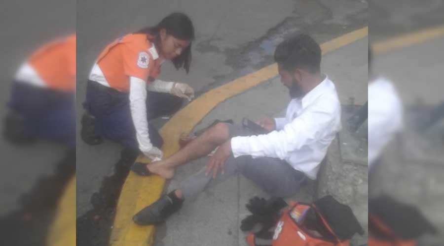 Se lesiona motociclista en Calzada Héroes de Chapultepec