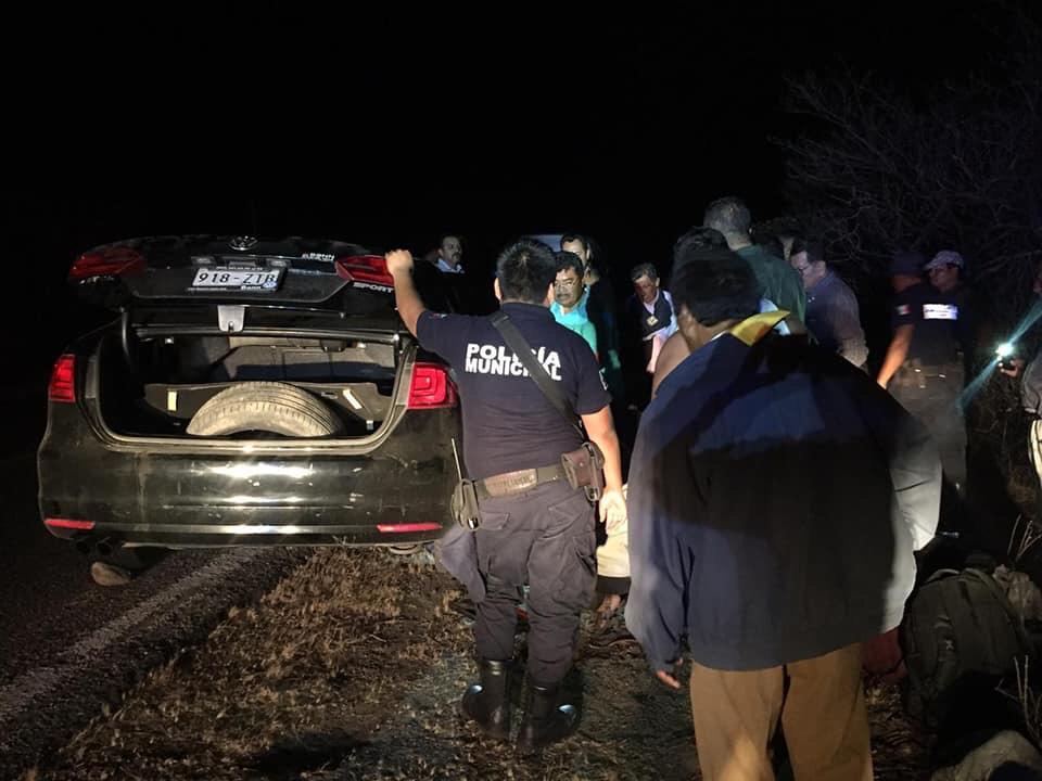 Presidente municipal de Juchitán sufre percance vial