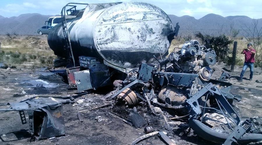 Muere chofer de pipa calcinado en su unidad | El Imparcial de Oaxaca