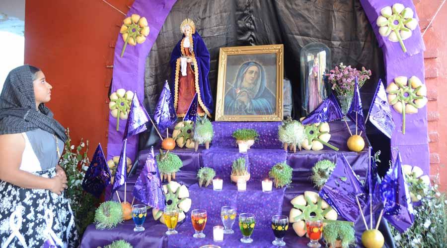 Conmemoran el Viernes de Dolores