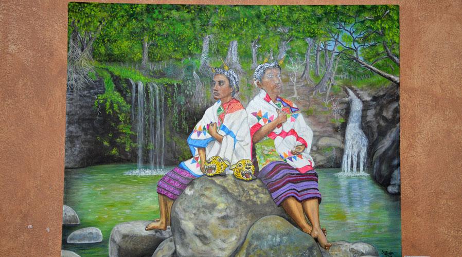 En Santiago Jamiltepec, presentan exposición  Raíces Malacateras