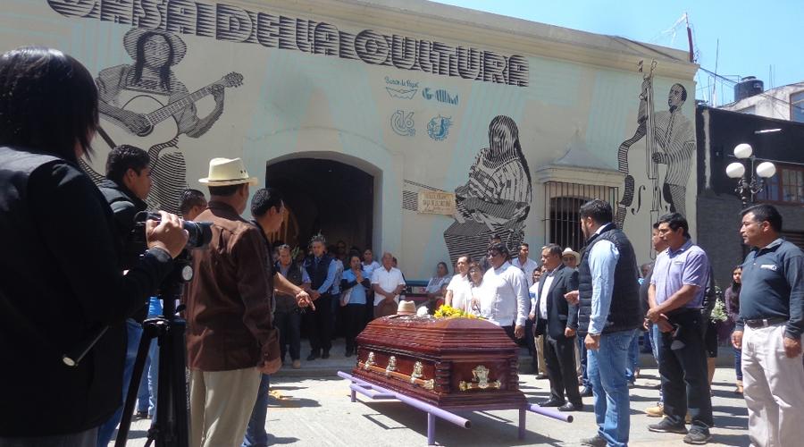 Horacio Hernández fue homenajeado en la Mixteca por su contribución al arte