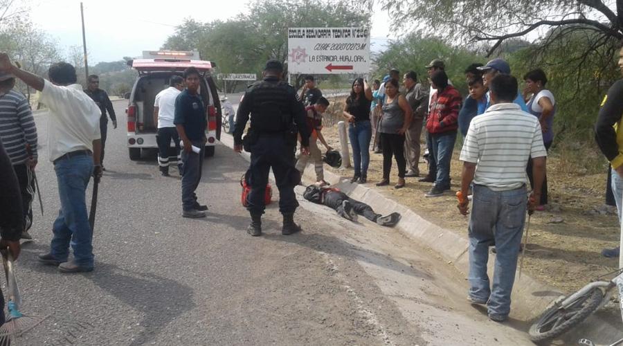Derrape violento de motociclista en carretera de Huajuapan | El Imparcial de Oaxaca