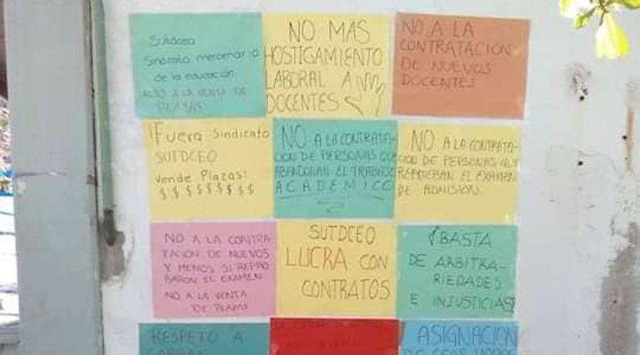 Siguen las protestas en el Conalep de Salina Cruz