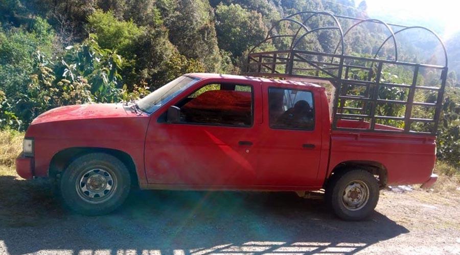 Recuperan camioneta con reporte de robo en los Mixes | El Imparcial de Oaxaca
