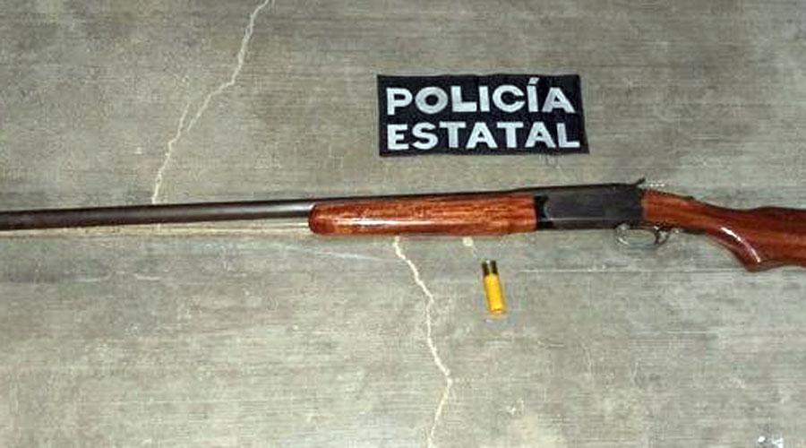 Lo agarran con una escopeta calibre 20 en Miahuatlán, Oaxaca | El Imparcial de Oaxaca