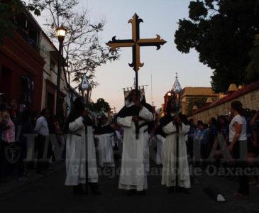 Procesión del Silencio, el evento más emblemático de la Semana Santa en Oaxaca
