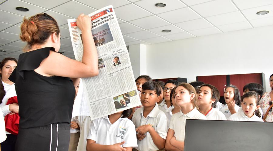 Alumnos de la primaria Alecrim visitaron las instalaciones de El Mejor Diario de Oaxaca