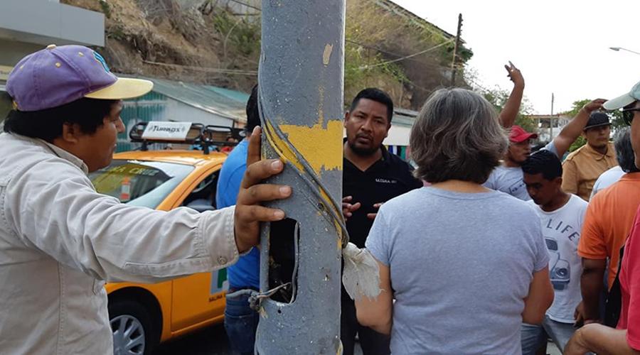 Trabajadores agreden a ciudadanos que limpian las calles de Salina Cruz
