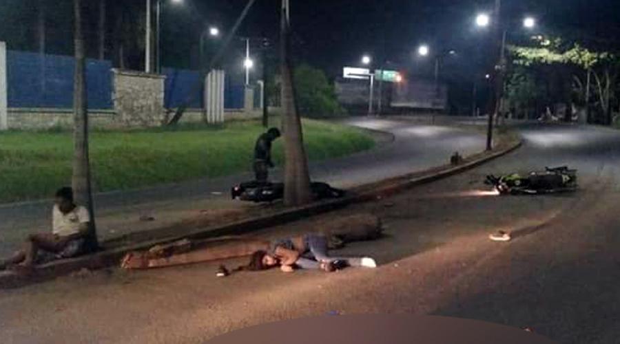 Duelo entre motociclistas en Tuxtepec; cinco heridos tras choque | El Imparcial de Oaxaca