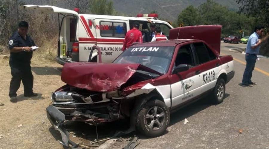 Fuerte choque en la carretera a Ixtlán | El Imparcial de Oaxaca
