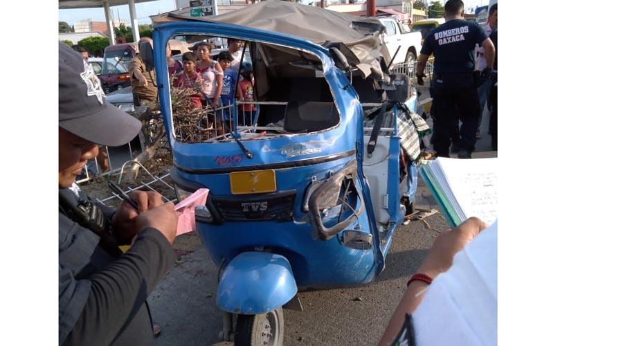 Vuelca mototaxista en Juchitán, Oaxaca | El Imparcial de Oaxaca