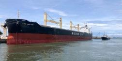 Arriba buque con carga  agrícola a Salina Cruz